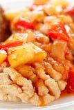 Deep fried carp in sweet-sour sauce, close-up Stock Photography