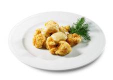 Deep Fried Cauliflower Stock Photography