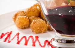 Deep fried cheese balls Royalty Free Stock Photography