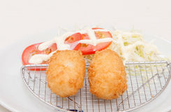 Deep fried cheese balls Stock Images