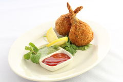 Deep Fried Chicken Drumstick Stock Photography