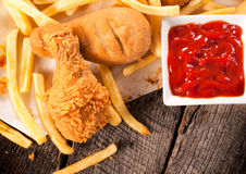 Deep fried chicken stock images