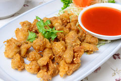 Deep fried chicken tendon royalty free stock images