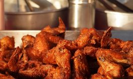 Deep Fried Chicken Wings Stock Image