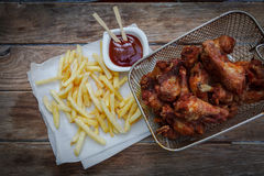 Deep fried chicken Royalty Free Stock Photography