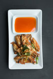 Deep fried chicken wings with lemongrass, Royalty Free Stock Images