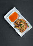 Deep fried chicken wings with lemongrass, Thai fo Stock Photography