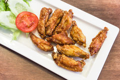 Deep Fried Chicken Wings with Thai Style Flavour. Deep Fried Chicken Wings with a Thai Style Flavour Royalty Free Stock Image