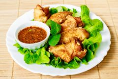 Deep fried chicken wings Royalty Free Stock Photos