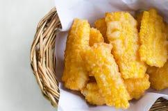 Deep fried corn Stock Photo