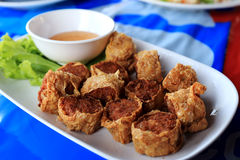 Deep fried crab meat roll cake Royalty Free Stock Photos