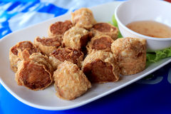 Deep fried crab meat roll cake Stock Image