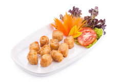 Deep Fried Crab meat roll On the plate Royalty Free Stock Photos