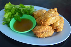 Deep Fried Crab Meat Rolls chinese asian culture Royalty Free Stock Photo