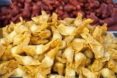 Deep fried crispy dumplings. Stock Images