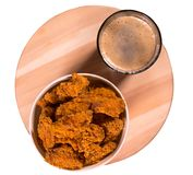 Deep fried crumbed chicken nuggets royalty free stock image