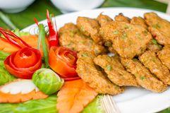 Deep-fried curried fish patties Royalty Free Stock Photos