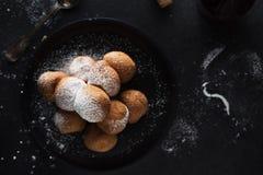 Deep fried dough balls Stock Photography