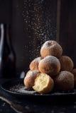 Deep fried dough balls Royalty Free Stock Photography