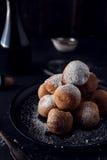Deep fried dough balls Royalty Free Stock Photos