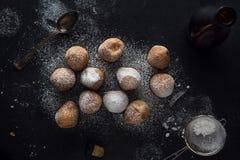 Deep fried dough balls Stock Image