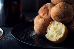 Deep fried dough balls Stock Photo
