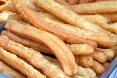 Deep fried dough stick Stock Photo