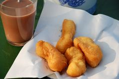 Deep - fried dough stick Royalty Free Stock Photos