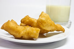 Deep-fried dough stick. And rice milk Royalty Free Stock Images