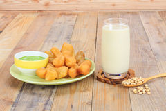 Deep-fried dough stick and soymilk Royalty Free Stock Image