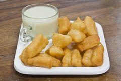 Deep fried dough sticks and a cup of soybean milk Stock Image