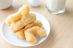 Deep fried doughstick breakfast Royalty Free Stock Image