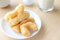 Deep fried doughstick breakfast Royalty Free Stock Image