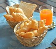 Deep-fried doughstick breakfast. Stock Photo