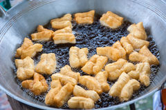 Deep-fried doughstick breakfast Royalty Free Stock Images
