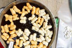 Deep-fried doughstick breakfast Stock Photo