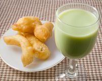 Deep Fried Doughstick with Soybean Milk Stock Images