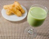 Deep Fried Doughstick with Soybean Milk Stock Image