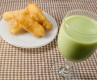 Deep Fried Doughstick with Soybean Milk Stock Photography