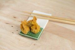 Deep fried dumpling or wonton with pork stuffed Royalty Free Stock Photography