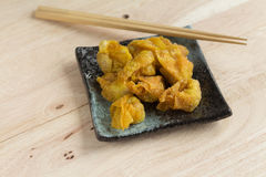 Deep fried dumpling or wonton with pork stuffed Stock Images