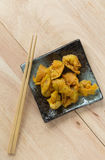 Deep fried dumpling or wonton with pork stuffed Stock Photo
