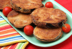Deep fried eggplant Royalty Free Stock Images