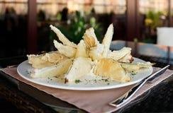 Deep fried eggplant in tempura coating Stock Photography