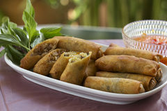 Deep Fried Eggroll. Thai-Chinese food Royalty Free Stock Photos