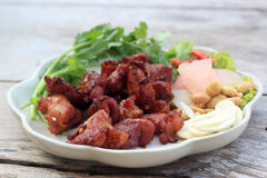 Deep fried Fermented pork rib Stock Photography