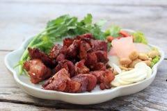 Deep fried Fermented pork rib Stock Photography