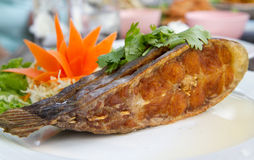 Deep fried fish stock image