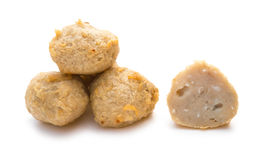 Deep fried fish balls on white Stock Photos