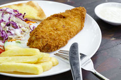 Deep fried fish and chip Stock Photo